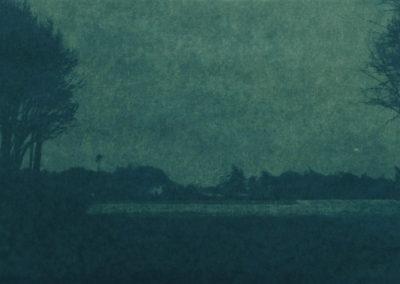 nacht over de velden